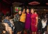 Lesleigh Irish Underwood's daughter; Stacie Grant; Erika Irish Brown, Bloomberg; honoree Lesleigh Irish Underwood