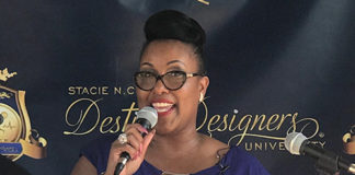 Dr. Stacie NC Grant holds press conference in Brooklyn, NY