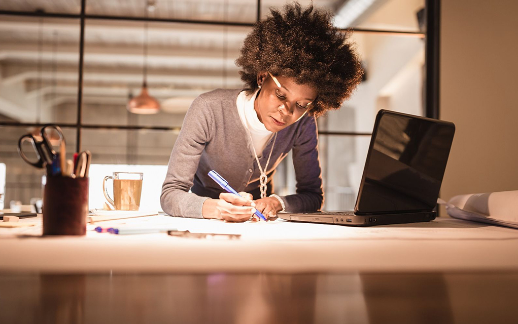 Image result for black woman working alone