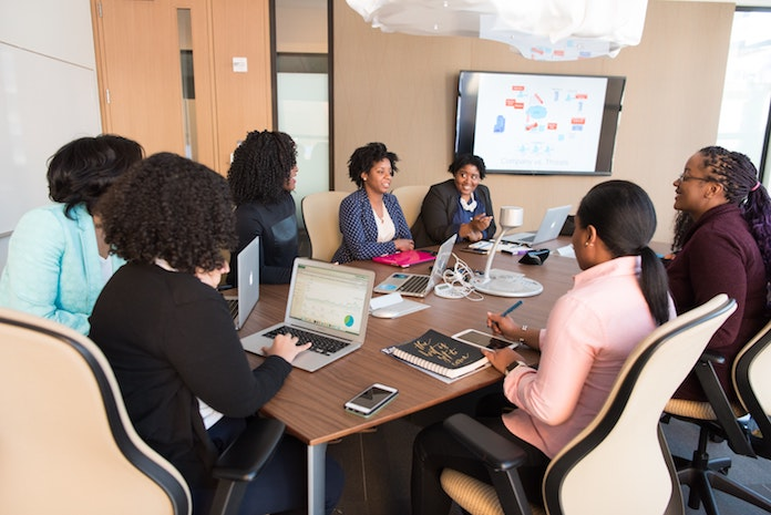 Black Business Women discussing thier business