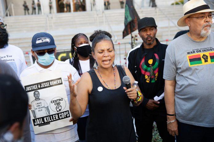 Black Activists marching in LA