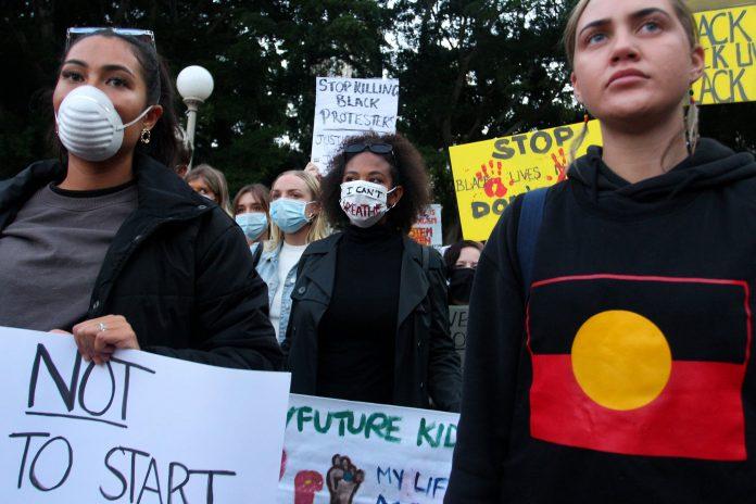Australians protesting
