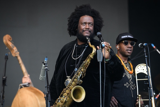 Kamasi Washington onstage