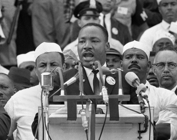 MLK, Jr. at the podium