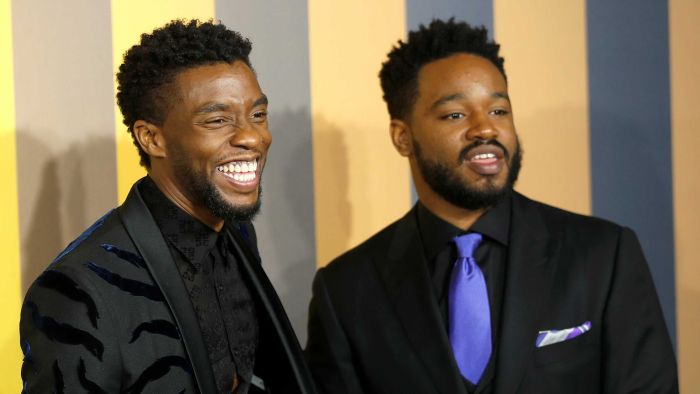 Ryan Coogler and Chadwick Boseman on the red carpet