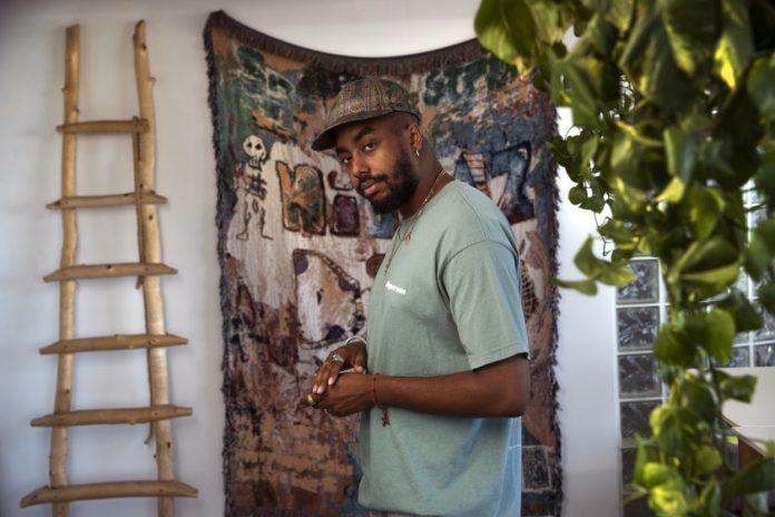 Man standing in his studio