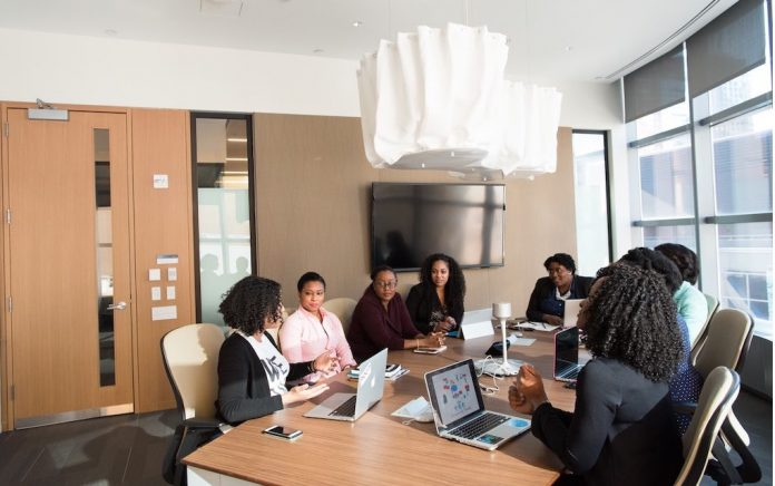 Black Business people are meeting