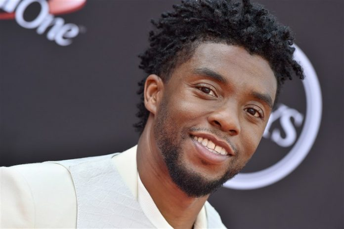 Chadwick Boseman smiling on the red carpet