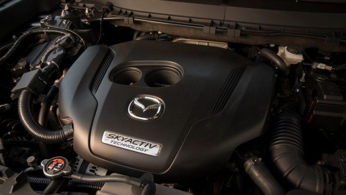 Mazda's engine's interior