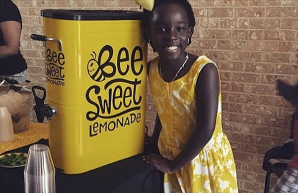 Mikaila Ulmer in yellow smiling