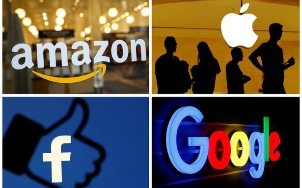 big tech company names displayed in boxes
