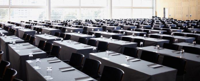 Interior of modern empty board room