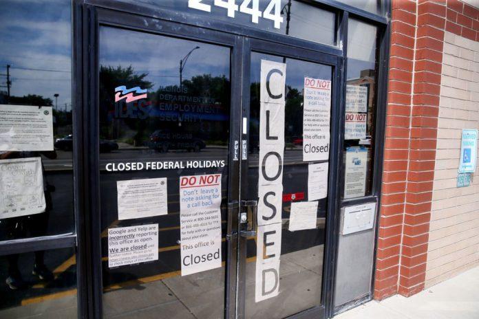 building featuring closure signage
