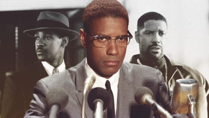 Denzel Washington in three different roles