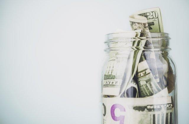 a jar of cash
