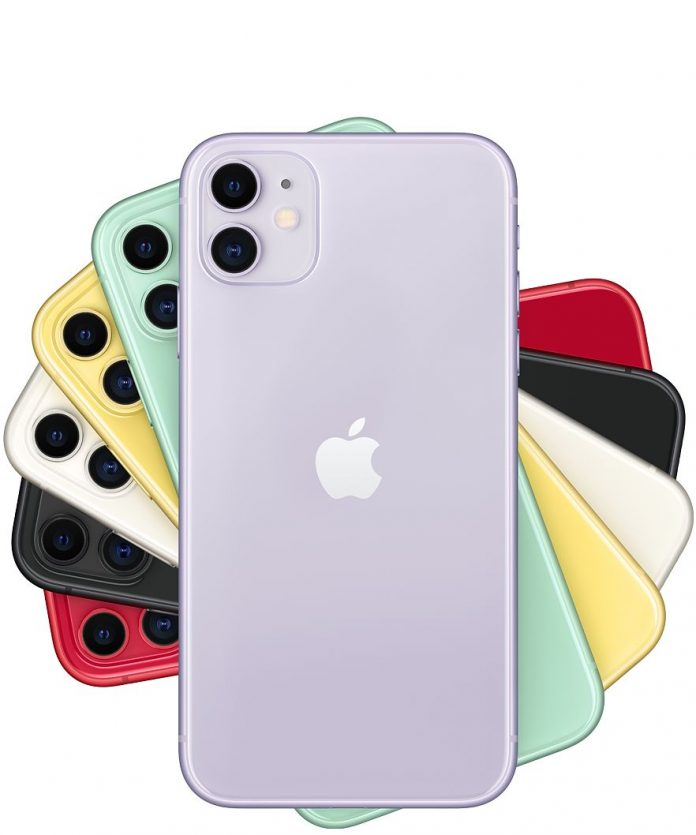 iPhones stacked up together
