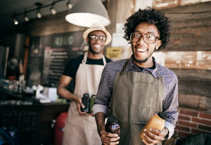 two male small business owners